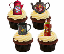 Canal Ware, narrowboat Comestibles Cupcake Toppers-stand-up De Hadas, Torta, Decoraciones