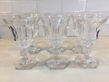 3 verres à vin en cristal METTERNICH 1894 bague fendue.H: 150 mm Val St Lambert