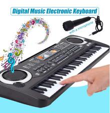61 Key Electronic Music Keyboard Electric Digital Piano Organ w/ Mic & Adapter