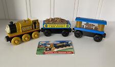 Thomas & Friends Wooden Railway Stepney & Museum Cars Set T-rex Jewel 2002 VGUC