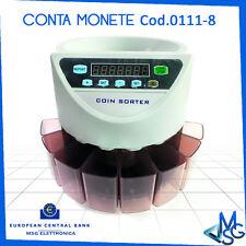 CONTAMONETE CONTA MONETE 8 CASSETTI PROFESSIONALE SEPARATORE € SEPARA MONETE