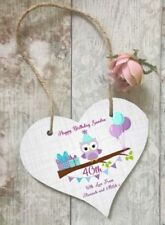 Heart Birthday Contemporary Decorative Plaques & Signs