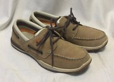 Margaritaville Caught Boat Deck Loafers Women's 7.5 Tan Suede Casual Shoes 5104H
