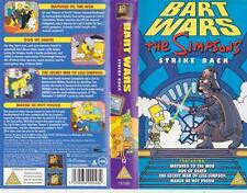 THE SIMPSONS BART WARS  PAL VIDEO A RARE FIND