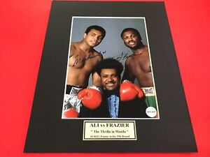 Muhammad Ali and Joe Frazier Signed 5x7 Photo with COA