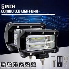 2x 5 Inch 72W LED Work Light Car Flood Bar Offroad Fog Lamp 4WD Jeep SUV RLTS