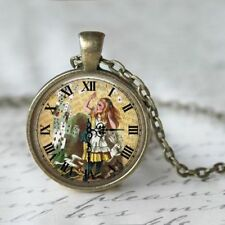 ALICE IN WONDERLAND PENDANT NECKLACE / Vintage Style Jewellery Gift Idea Cards
