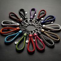Lanyard Rope Strap Weave Keychain Keyring Car Key Chain Ring Key Fob Gift new1pc