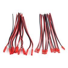 10x männlich weiblich jst stecker 2-polig kabel draht für indoor 3d flugzeug