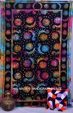 Hippie Celestial Sun Moon Tapestry Indian Tie & Dye Wall Hanging Twin Bedspread