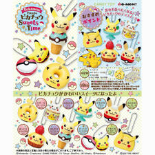 Re-Ment Pokemon Pikachu Sweets Time Mini Figure Keychain Collection Complete Set