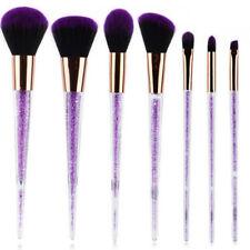 7Pcs/Set Purple Crystal Makeup Brush Powder Foundation Eyeshadow Blush Brushes