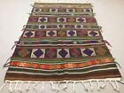 Antique Turkish Moroccan Kilim Rug shabby vintage Square Kelim 218x145 cm Large