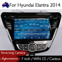 "7"" Car DVD GPS Navigation Head Unit Stereo Radio For Hyundai Elantra 2014-2016"