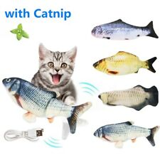 Moving Cat Kicker Fish Toy Interactive Cat Toy Realistic Flopping Fish & Catnip