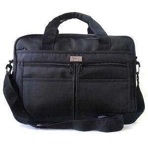 New Black 14 inch Laptop Bag Fabric Briefcase Book Bag Messenger Bag
