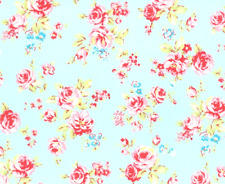 Lecien Antique Flower Rose Allover 31421 Blue Fabric BHY