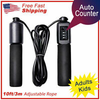 Jump Rope Counter Adjustable Bearing Speed Skipping Gym Fitness Crossfit Boxing❤