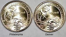 2017 SAC$1 Sacagawea Dollars Sequoyah P&D Mint Set UNC