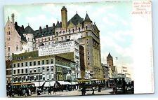 Broad Street Market Street Fidelity Trust Company Newark NJ Vintage Postcard C45