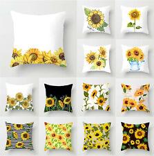 "Yellow Sun Pillow Covers 16""/18""/20""/24""Sofa Car Home Decor Throw Cushion Covers"