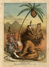 ORIENTAL GAME MONKEY AS SOLDIER FACTION BRITISH LION READY TO EAT EGYPT COCONUT
