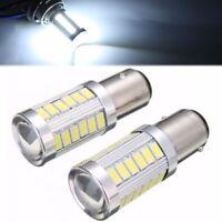 2x 12V 1157 BA15D P21W 5630 33 SMD COB LED Lamp Turn Signal Reverse Tail Light