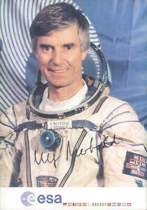 Handsignierte Autogrammkarte von Ulf Merbold - ASTRONAUT