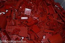 NEW LEGO 100+ DARK RED MIX OF PARTS PIECES HUGE BULK LOT RANDOM LEGOS LB
