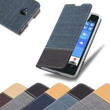 Case for Nokia Lumia 650 Phone Cover Denim Style Protective Wallet Book