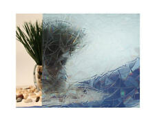 "Blue Atlantis Cut Glass Static Cling Window Film, 35"" Wide x 9 ft"
