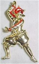 Mardi Gras Man in a Mask Goldtone Pin