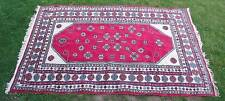 antique 8x6 hand knotted Heriz oriental rug ivory color