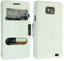 FOR SAMSUNG GALAXY S2 SII I9100 LEATHER CASE COVER WALLET POUCH BACK FLIP SKIN