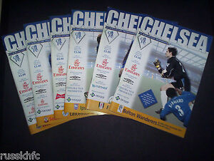 2001/02 CHELSEA HOME PROGRAMMES CHOOSE FROM