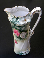 Antique Porcelain Tankard by R. S. Prussia ~ Carnation Mold ~ Circa 1870 - 1914.