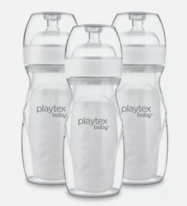 Playtex Baby Nurser with Drop-Ins Liners Baby Bottles, 8 oz, 3 pk