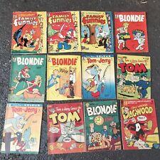 Australian vintage comic bulk lot 12 issues Tom & Jerry Blondie Family Funnies