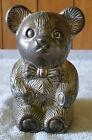 Vintage Metal Teddy Bear Piggy Bank