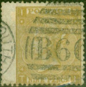 GB 1867 9d Straw SG110 Fine Used