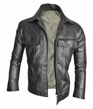 Elvis Presley Rouge Laine Varsity Bomber veste noir pure cuir manches