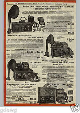 1925 PAPER AD Tuska Radio Sets Superdyne Upright Console Pathe Grimes 3-XP