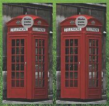 Phone Booth Cornhole Wrap Set - Fast Shipping!!