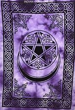 Hippie Design Wall Door Hanging Poster Tapestry Star Moon Decor Style Cotton Art