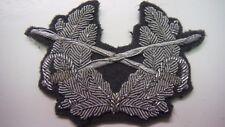 Federal Republic of Germany Bundesheer Officer Visor Hat Badge in Silver Bullio