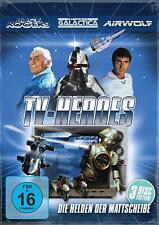 AIRWOLF + BUCK ROGERS + KAMPFSTERN GALACTICA - TV HEROES - HELDEN 3 DVD BOX Neu