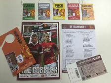 Northampton Town vs Manchester United programma | | teamsheet | BIGLIETTO | passa