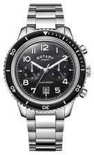 Rotary Mens Ocean Avenger Chronograph Black Dial GB05021/04 Watch