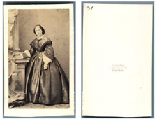 C. Winter, Madame Sharp CDV vintage albumen carte de visite,  Tirage albuminé