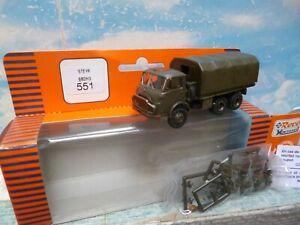 Roco - minitanks : Camion militaire 6 X 6  ech ho 1/87 -  ref : 551